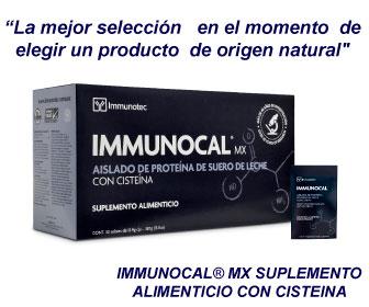 Immunocal producto de origen natural.